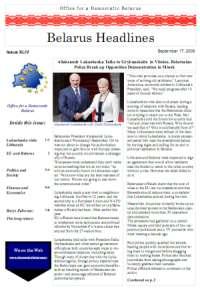 Belarus Headlines XLIV