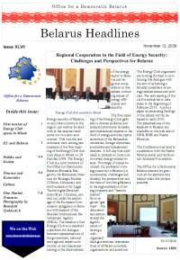 Belarus Headlines XLVII